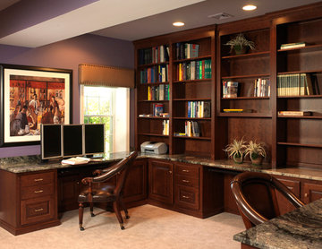 Finished Basement - Bar and Home Office