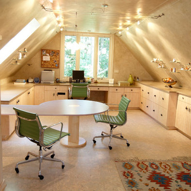 Home Office Ideas On Pinterest Sloped Ceiling Home Offices And Attic Office