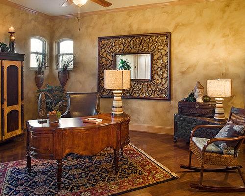 Zen wall home office design ideas renovations photos - Zen office decorating ideas ...