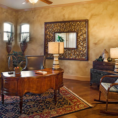 mediterranean home office by Infinity Design, Inc.