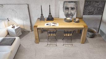 Fliser med betonlook