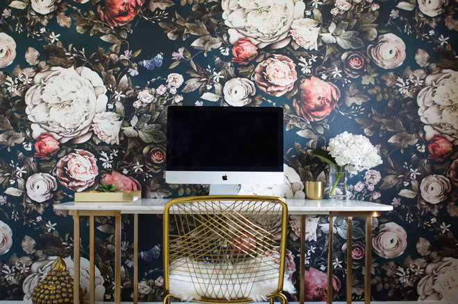 Contemporary Home Office by LBG Interiors