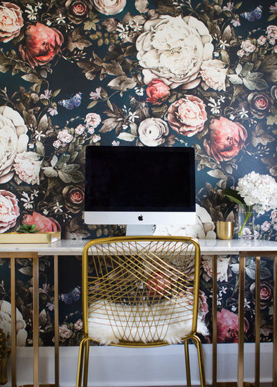 Eclectic Home Office by LBG Designs