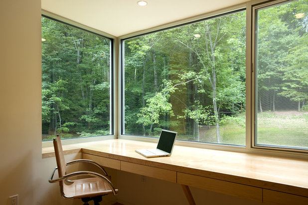 Contemporary Home Office & Library by KUBE architecture
