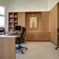 Contemporary Home Office by Thomas Development and Construction