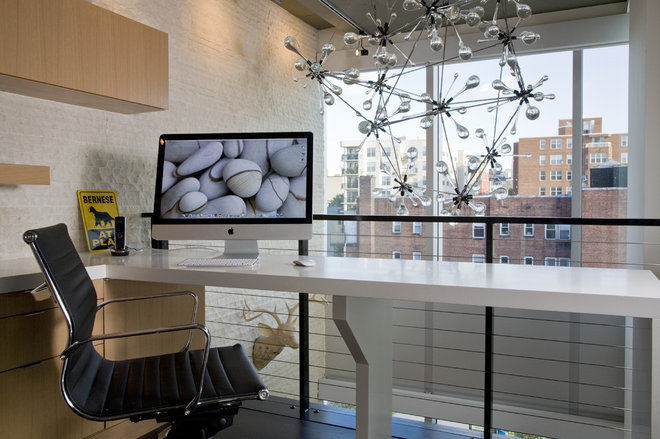 Contemporary Home Office by FORMA Design