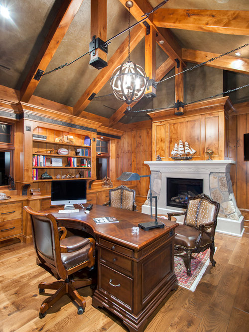 rustic vancouver home office design ideas remodels photos