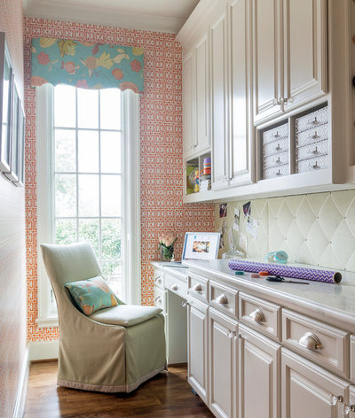 Traditional Home Office by Heather Scott Home & Design