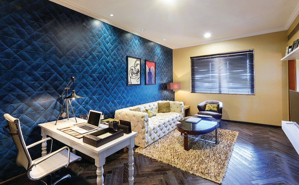 Contemporary Home Office by Prachi Damle Photography