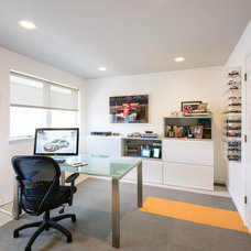 Contemporary Home Office by Amanda Miller Design Studio