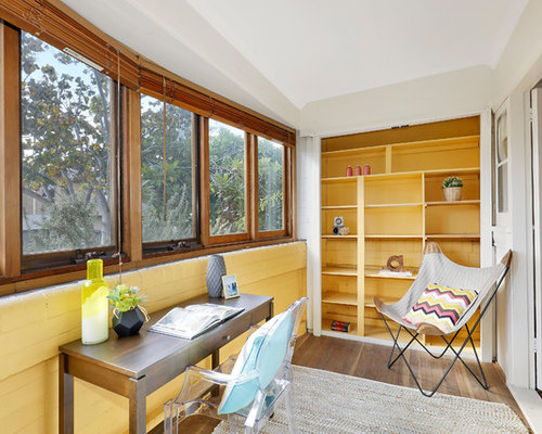75 home office with plywood floors design ideas stylish home