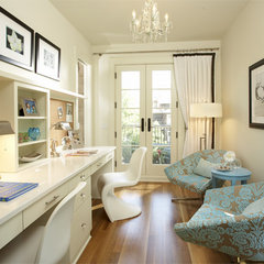 eclectic home office by Martha O'Hara Interiors