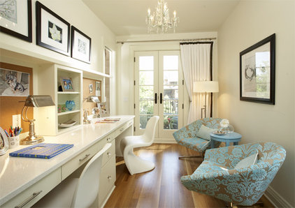 transitional home office by Martha O'Hara Interiors