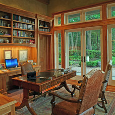 Traditional Home Office by Christopher A Rose AIA, ASID