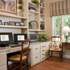 Traditional Home Office by Leslie Cohen Design