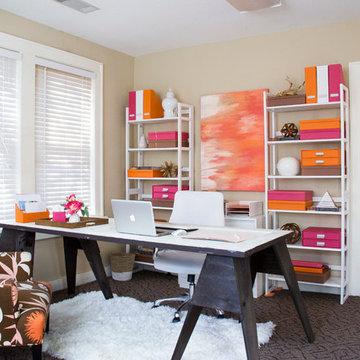 Fun Feminine Office Space
