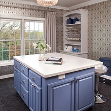 Transitional Home Office by INVIEW Interior Design