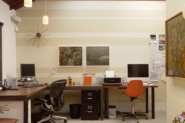 Contemporary Home Office by Angela Dechard Design