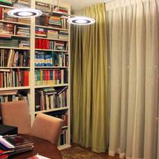 Midcentury Home Office by Allure Window Treatments