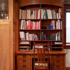 Traditional Home Office by Anne Bancroft Interiors