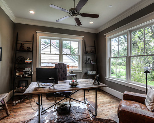 Craftsman home office design ideas remodels photos for Craftsman style office