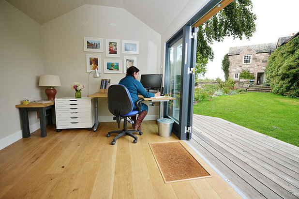 Traditional Home Office & Library by JML Garden Rooms