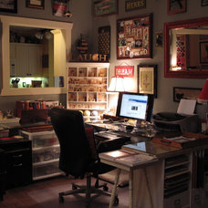 Eclectic Home Office by Cozy Little House
