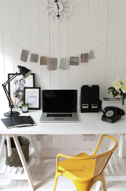 Contemporary Home Office by Owl Design