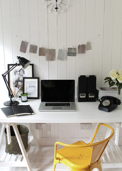 Scandinavian Home Office & Library by Owl Design