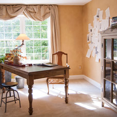 Traditional Home Office by Adrienne DeRosa