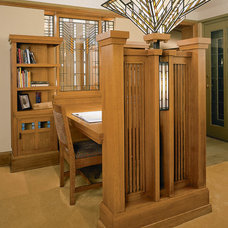 Craftsman Home Office by Genesis Architecture, LLC.