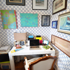 Eclectic Home Office by Nicole Lanteri