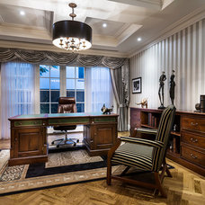 Traditional Home Office by Oswald Homes