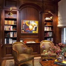 Traditional Home Office by EJ Interior Design, Eugenia Jesberg