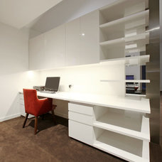 Modern Home Office by Melbourne Contemporary Kitchens