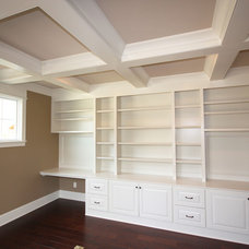 Traditional Home Office by Heartwood Custom Homes Inc.