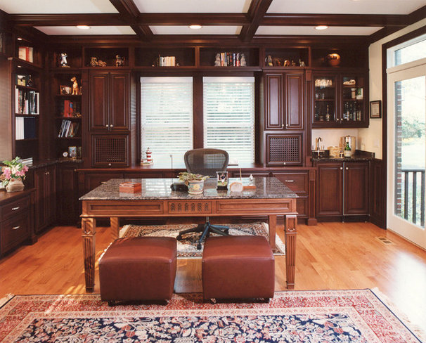 Traditional Home Office by COOK ARCHITECTURAL Design Studio