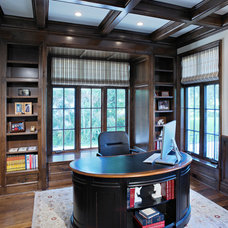 Traditional Home Office by Randall Architects