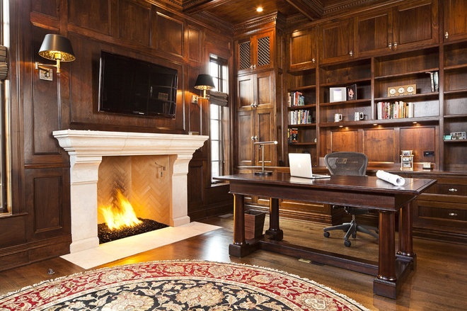 Traditional Home Office by Highgate Builders
