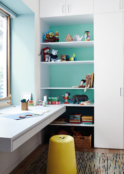 Contemporary Home Office by Dulux Paint