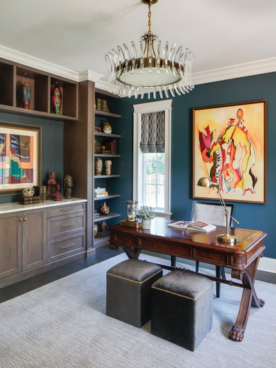 Traditional Home Office by Dual Concept Design