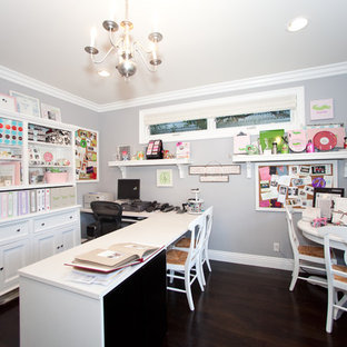 Craft room - contemporary craft room idea in Los Angeles