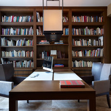 Contemporary Home Office by Joseph Trojanowski Architect PC