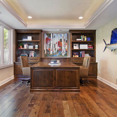 Traditional Home Office by Schrader & Companies