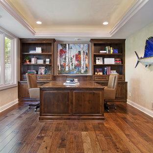 Elegant home office photo in Minneapolis