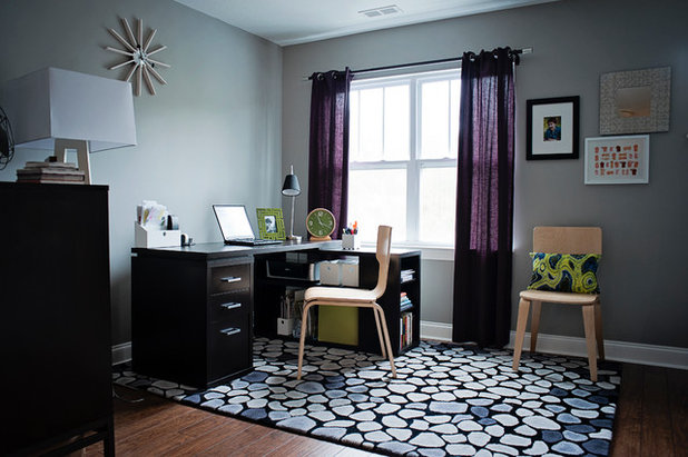 Transitional Home Office by Stephanie Swander Interiors