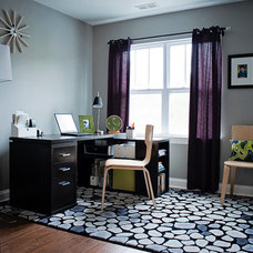 Eclectic Home Office by Stephanie Swander Interiors