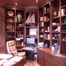 Traditional Home Office by Peek Design Group