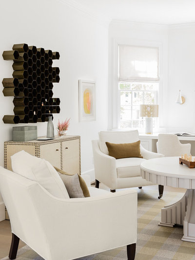 Beach Style Home Office by Lisa Tharp Design
