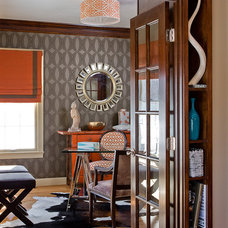 Traditional Home Office by Ana Donohue Interiors